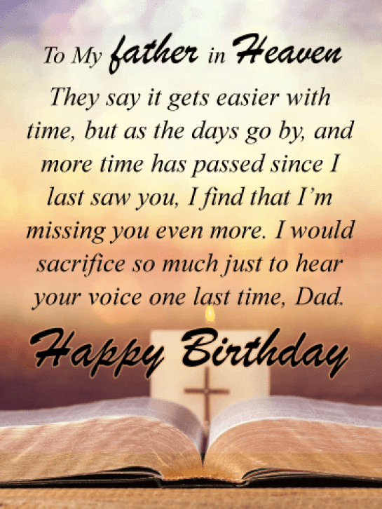 Happy Birthday Dad In Heaven Images