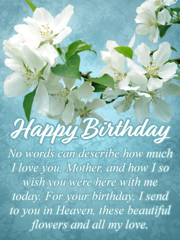 Wishing You Were Here Happy Birthday Card For Mother In Heaven Birthday Greeting Cards By Davia