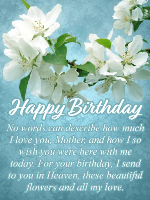 Happy Heavenly Birthday Mom Images
