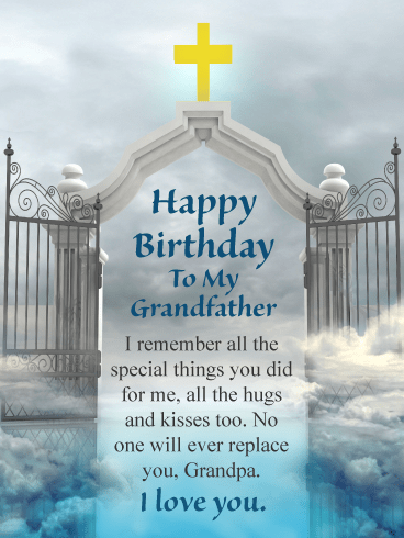 No One Will Ever Replace You Happy Birthday Card For Grandfather In Heaven Birthday Greeting Cards By Davia