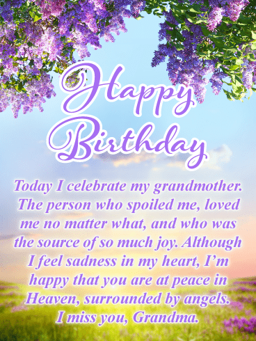 Today I Celebrate You Happy Birthday Card For Grandmother In Heaven Birthday Greeting Cards By Davia