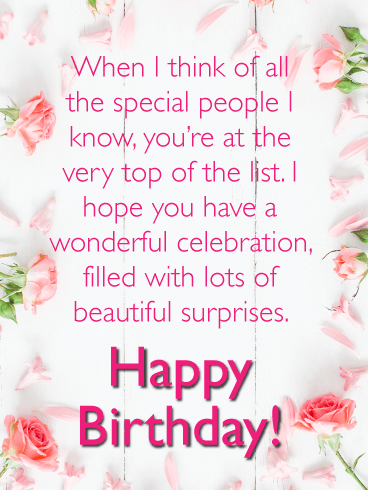 Lots Of Beautiful Surprises Happy Birthday Card For Her Birthday Greeting Cards By Davia