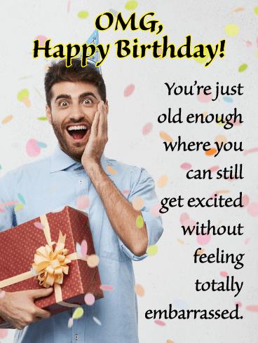 Omg Day Funny Birthday Card For Him Birthday Greeting Cards By Davia