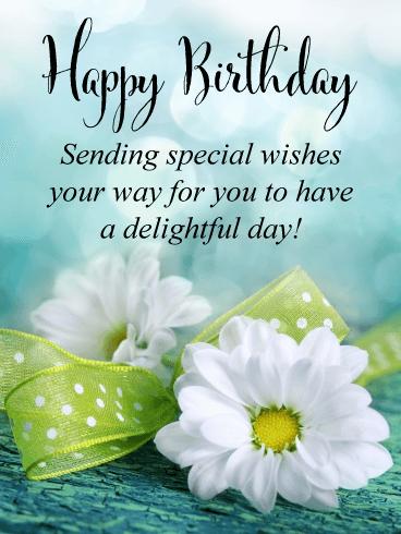 Lovely Flowers Happy Birthday Card Birthday Greeting Cards By Davia