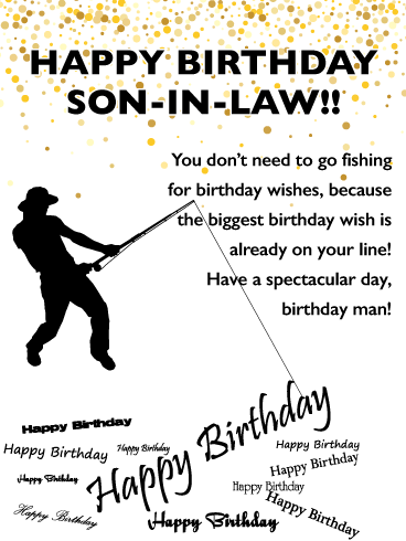 Special Fish Happy Birthday Card For Son In Law Birthday Greeting Cards By Davia