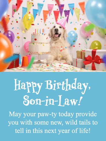 New Wild Tails Funny Happy Birthday Card For Son In Law Birthday Greeting Cards By Davia