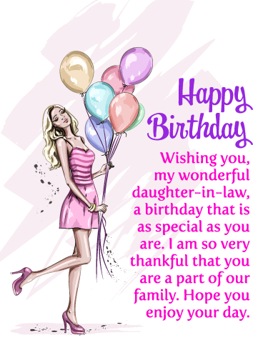 Happy Birthday Daughter In Law Messages With Images Birthday Wishes And Messages By Davia