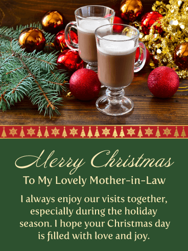 Merry Christmas Wishes For Mother In Law Birthday Wishes And Messages By Davia