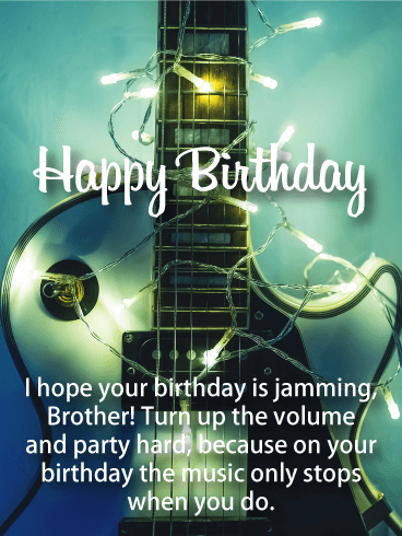 Turn Up The Volume Happy Birthday Card For Brother Birthday Greeting Cards By Davia