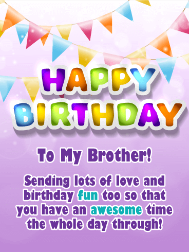 An Awesome Day Happy Birthday Card For Brother Birthday Greeting Cards By Davia