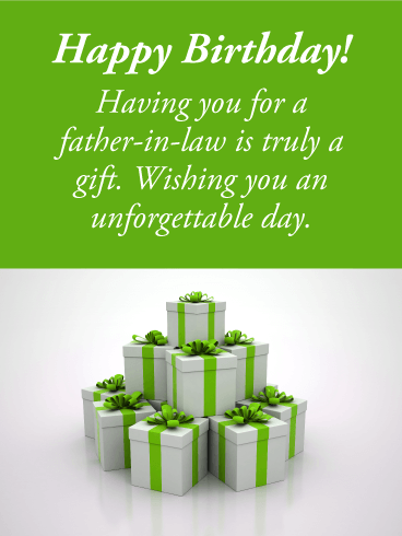 You Are A Gift Happy Birthday Card For Father In Law Birthday Greeting Cards By Davia