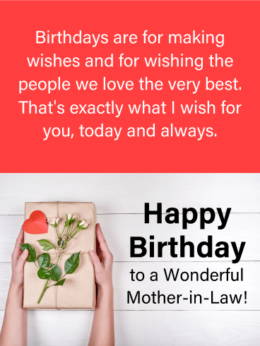 To A Wonderful Mother In Law Happy Birthday Card Birthday Greeting Cards By Davia