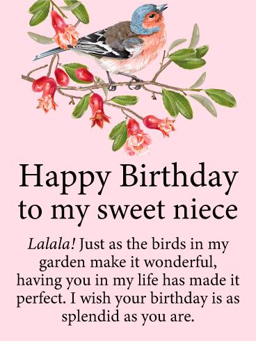 Bird Birthday Cards For Niece Birthday Greeting Cards By Davia Free Ecards