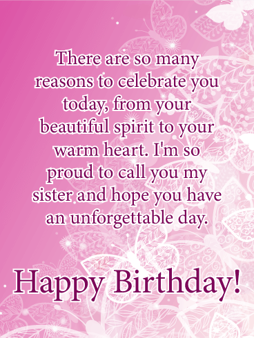 I M Proud Happy Birthday Card For Sister Birthday Greeting Cards By Davia