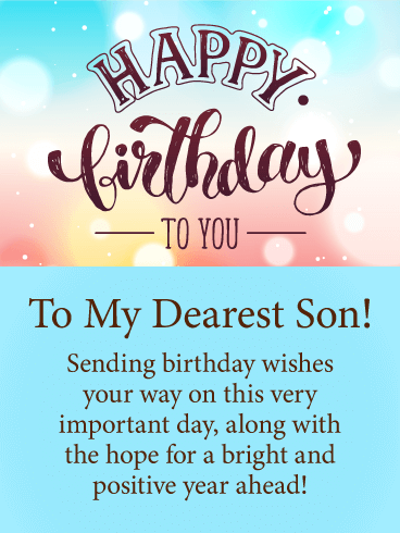 Very Important Day Happy Birthday Card For Son Birthday Greeting Cards By Davia