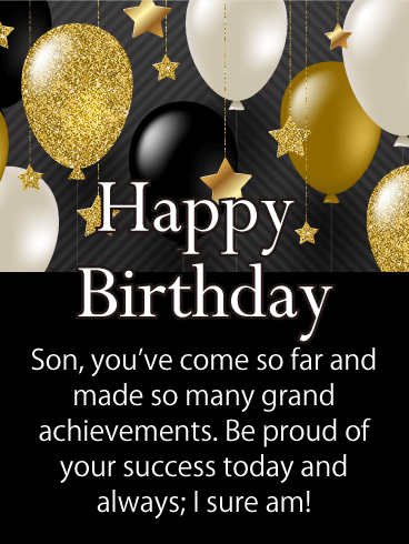 Birthday Cards For Son Birthday Greeting Cards By Davia Free Ecards