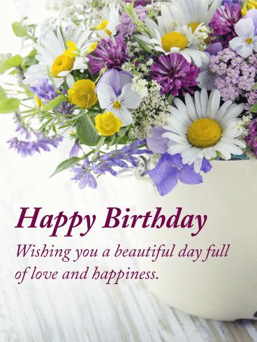 Full Of Love Happy Birthday Card Birthday Greeting Cards By Davia
