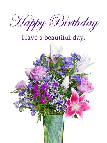 Happy Birthday Flower Cards Birthday Greeting Cards By Davia Free Ecards