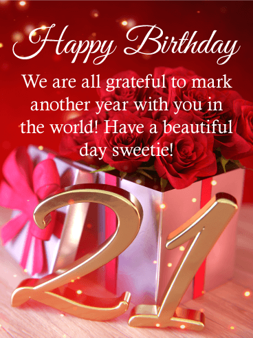 Happy 21st Birthday Messages With Images Birthday Wishes And Messages By Davia
