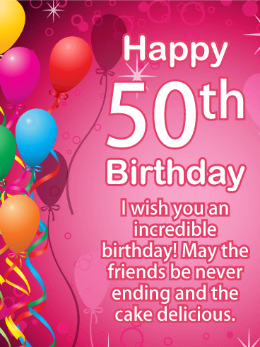 Happy 50th Birthday Messages with Images - Birthday Wishes and Messages by Davia