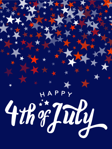 Full Of Stars Happy 4th Of July Card Birthday Greeting Cards By Davia