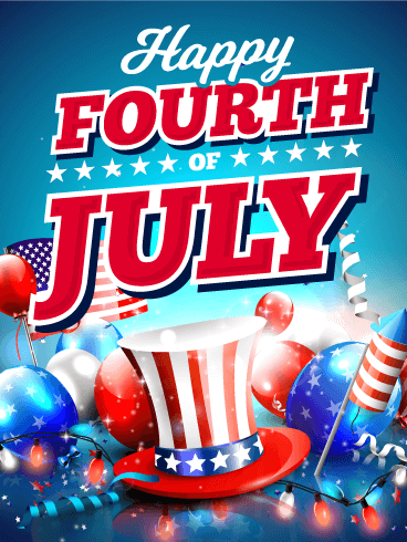 Time To Party Happy 4th Of July Card Birthday Greeting Cards By Davia