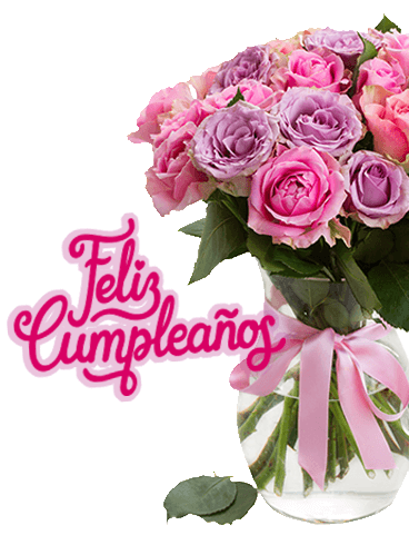 Pink Rose Happy Birthday Card In Spanish Feliz Cumpleanos Birthday Greeting Cards By Davia