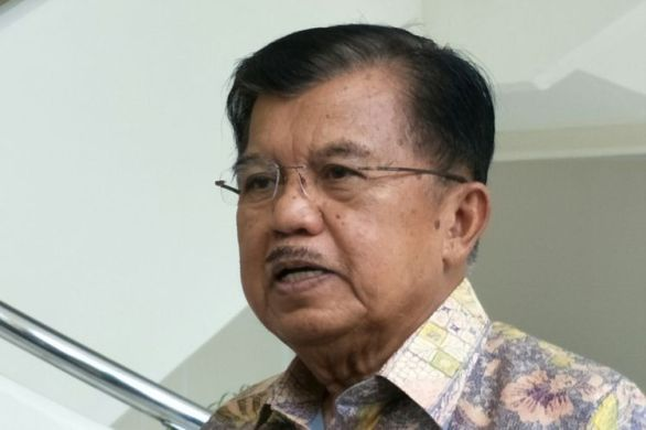 Wakil Presiden RI Jusuf Kalla ketika ditemui di kantor Wakil Presiden, Jalan Medan Merdeka Utara, Jakarta Pusat, Rabu (6/12/2017).