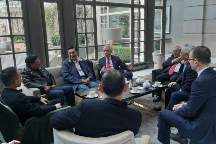 Menko Maritim dan Investasi bertemu dengan CEO Securiport, Enrique Segura di Washington, Amerika Serikat, Kamis (13/2/2020).