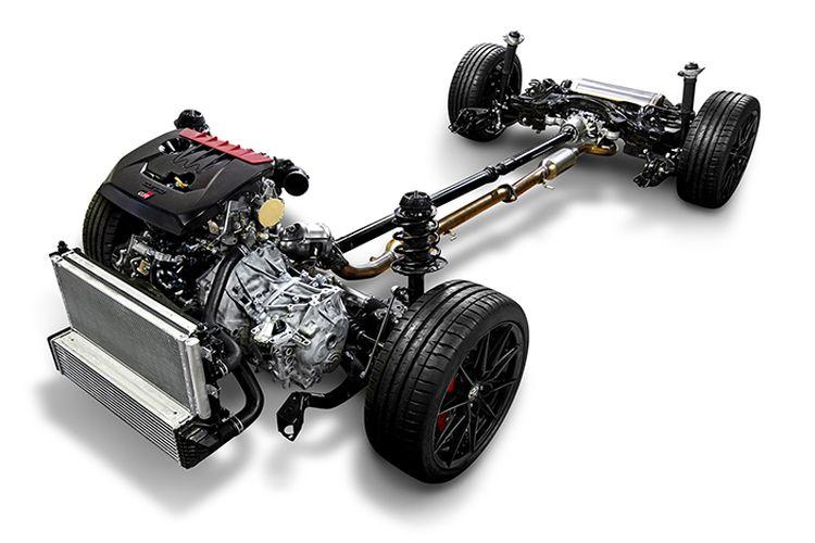 Toyota GR Yaris engine illustration