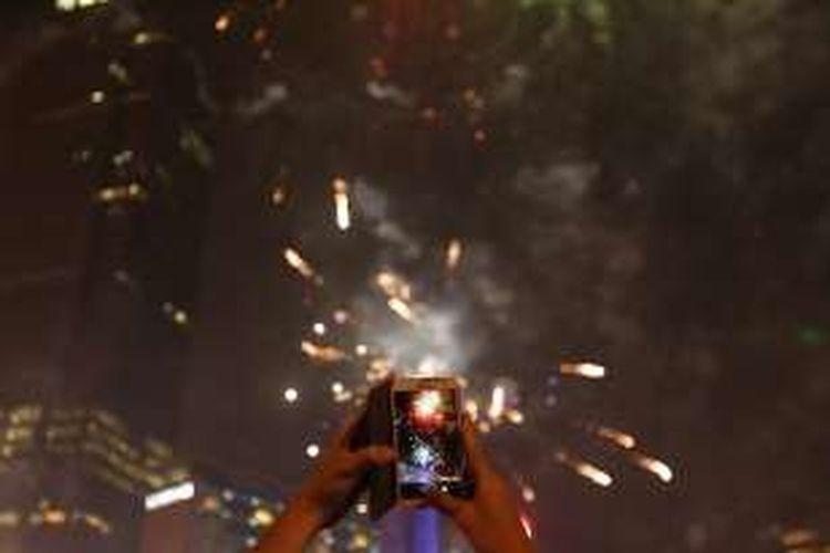 Perayaan Tahun Baru 2017 Di Bandung Berpusat Di Jalan Asia Afrika