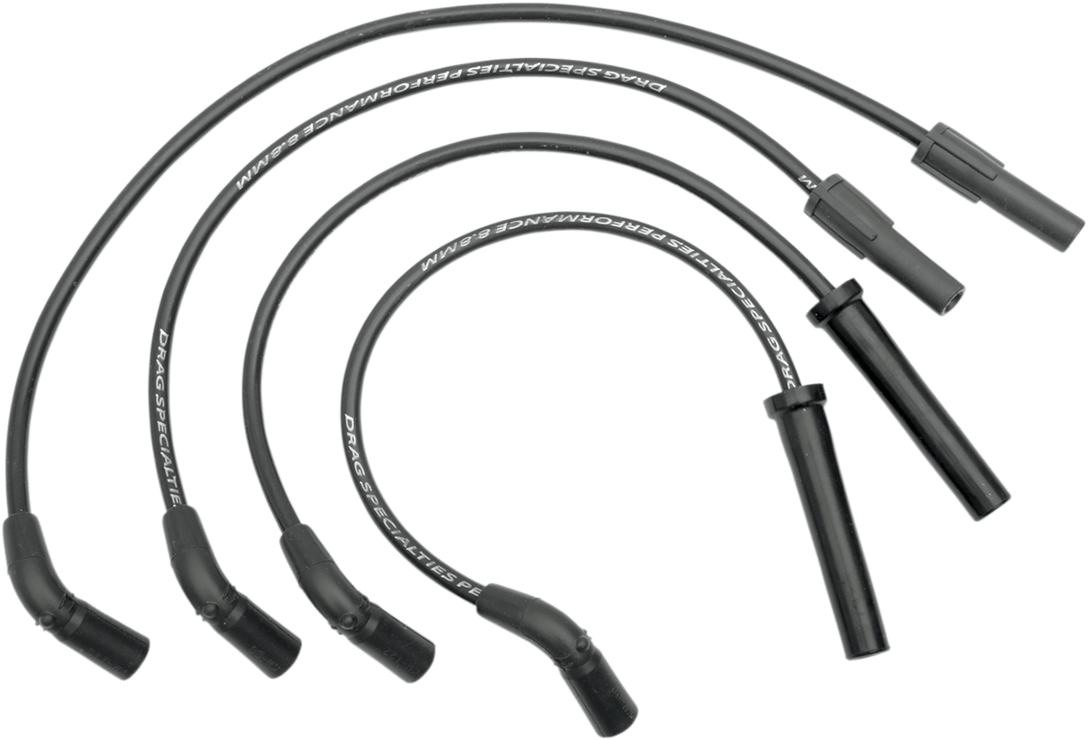 Drag Specialties Black 8 8mm Spark Plug Wire Set 98 03 Harley Davidson Xl Sport