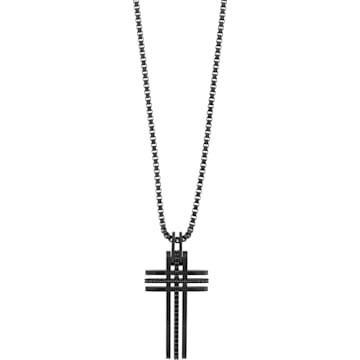 Pendente Bengal Cross, nero, Placcatura in PVD nero - Swarovski, 5070473