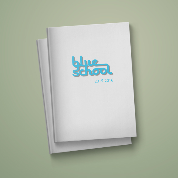 Blue School Yearbook Cover 2015-2016