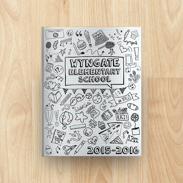 Wyngate Elementary School Yearbook Cover 2015-2016