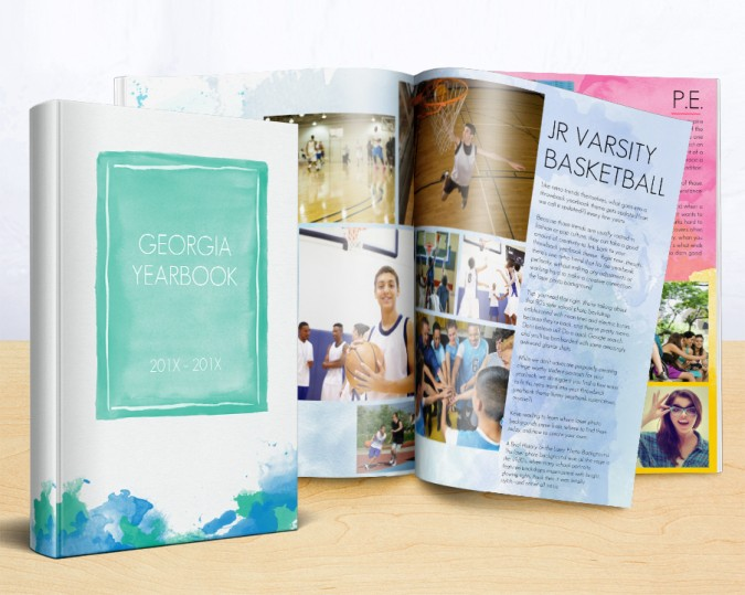 high school yearbook themes using watercolors