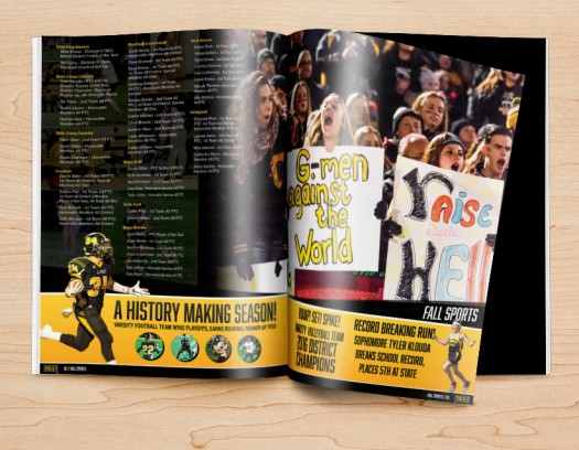 yearbook design ideas for section dividers