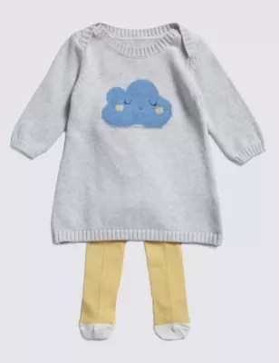 Knitted Baby Cowboy Outfit
