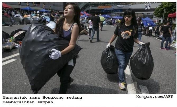 Sampah Pengunjuk Rasa dan Budaya Bangsa