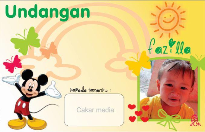 Membuat Undangan Ulang Tahun Untuk Anak Oleh Aing Lee Kompasiana Com