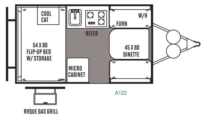 New Forest River Rv Rockwood Hard Side Series A122