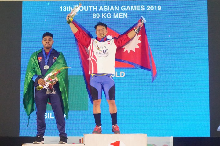 Bikash Thapa wins weightlifting gold for Nepal