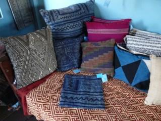 Batik hemp fabrics.