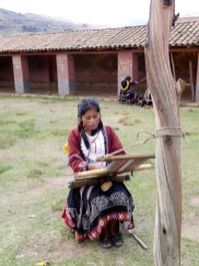 This young girl from Chahuaytire is an exceptional weaver.