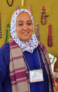 Amina Yabbis, founder of Sefrou Women's Button Cooperative in Morocco.