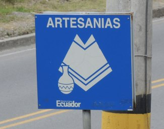 The road sign off the highway noting an artisan area.