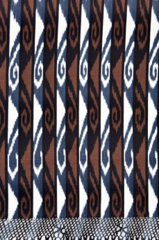 Detail of ikat pattern, naturally dyed, used in the shawl.