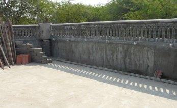 Village water system under construction.
