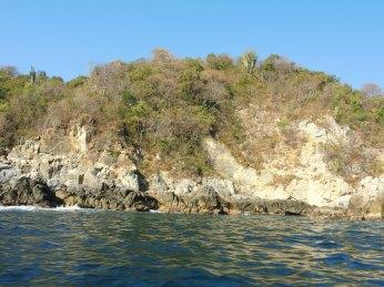 The Oaxacan coast where purpura shellfish are found.