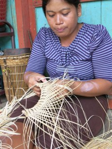 This artisan is from the Eheng Village at East Kalimantan, Indonesia, Borneo Island.